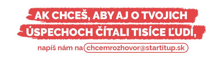 Chcem rozhovor - kontaktovať Startitup.sk