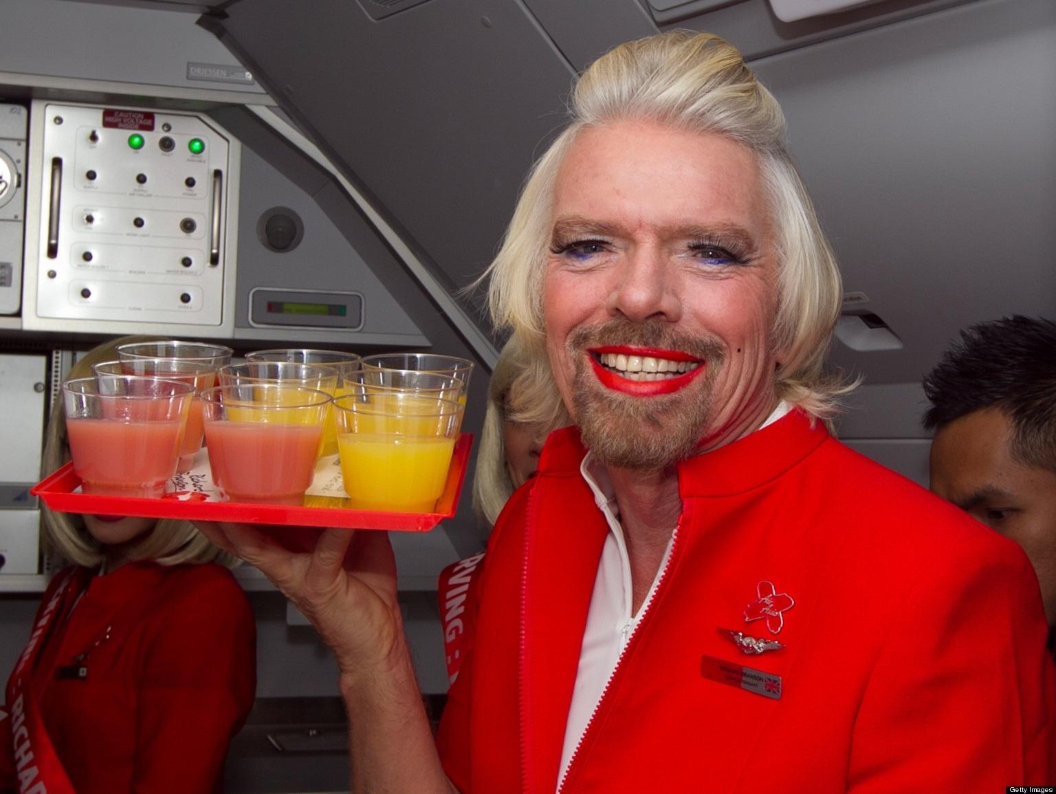 Richard ako letuška