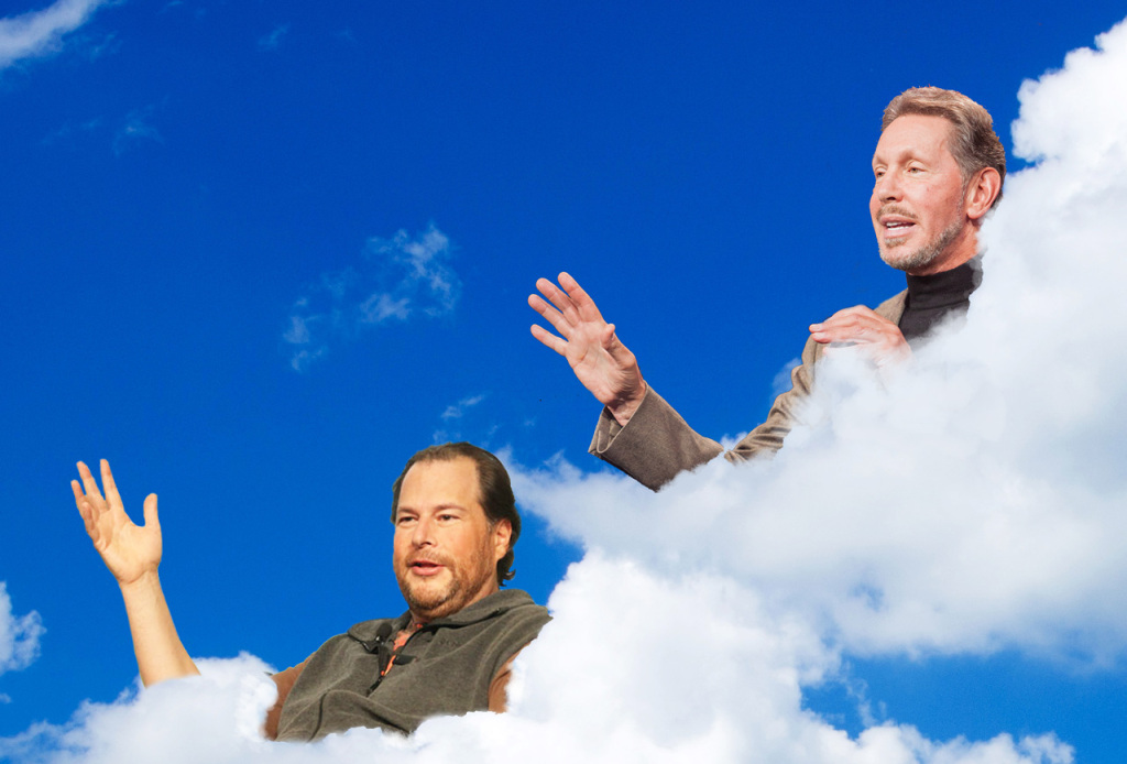 Marc Benioff a Larry Ellison