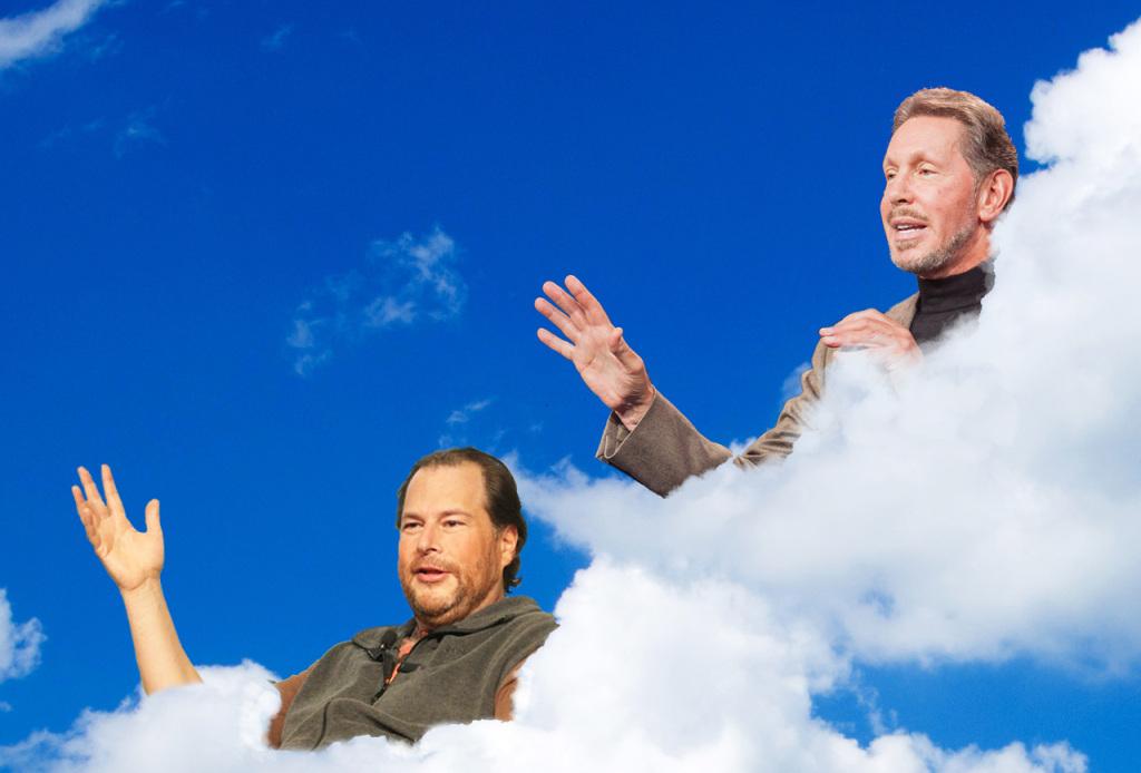 Marc Benioff a Larry Ellison