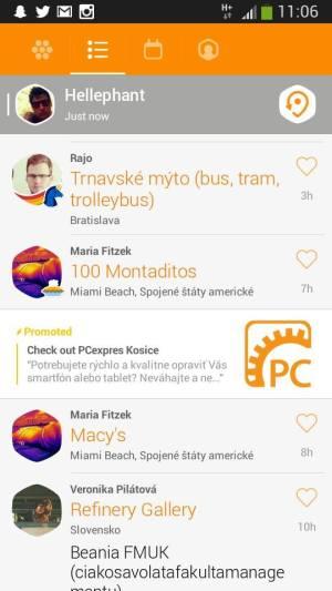 Reklama PCexpres Košice v aplikácii Swarm/Foursquare