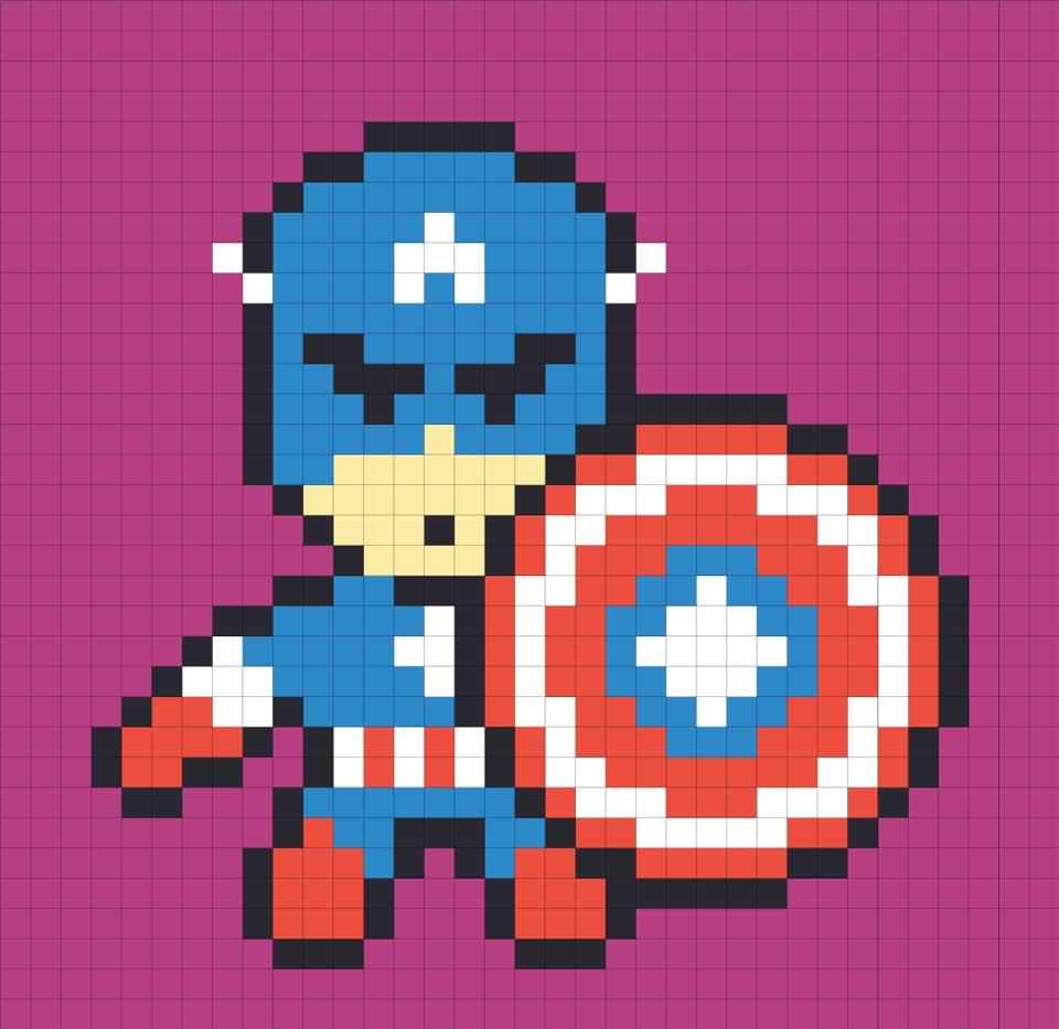 Návrh, ako by mal vyzerať Kapitán Amerika.