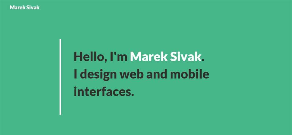 Marek Sivak   I design web and mobile interfaces