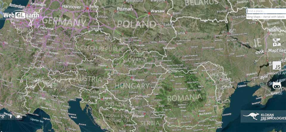 WebGL Earth   3D digital globe for web and mobile devices