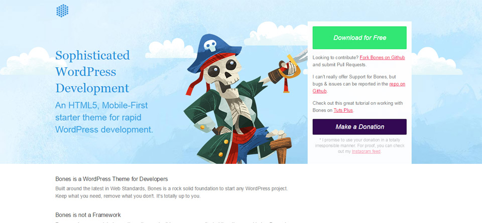 Bones   The HTML5 WordPress Starter Theme