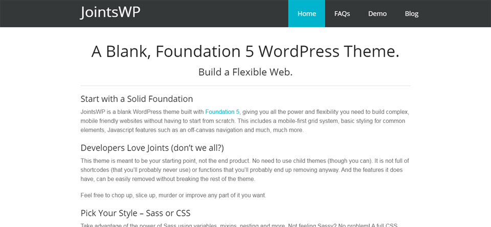 JointsWP   A Blank  Foundation 5 WordPress Theme