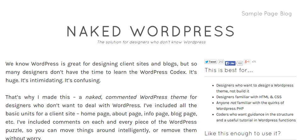 Naked WordPress   The solution for designers who don t know WordPress