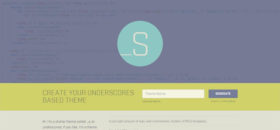 Underscores   A Starter Theme for WordPress