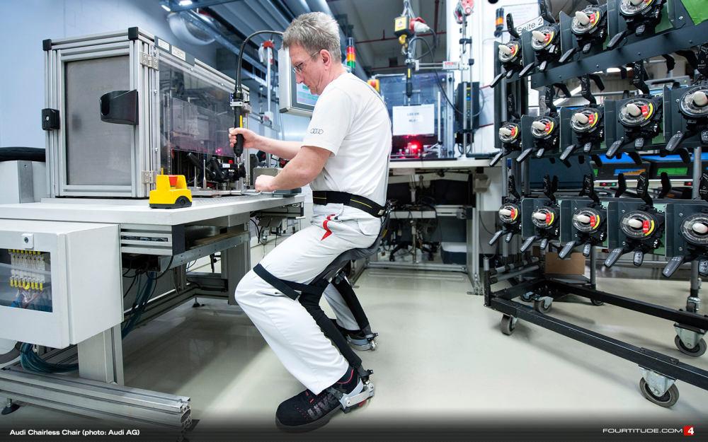 Uľahčí exoskeleton prácu ľuďom pracujúcim po stojačky?