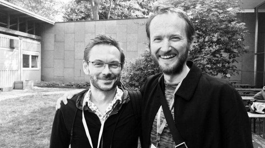 Andrej Krátky a Peter Biľak, foto Jean François Porchez