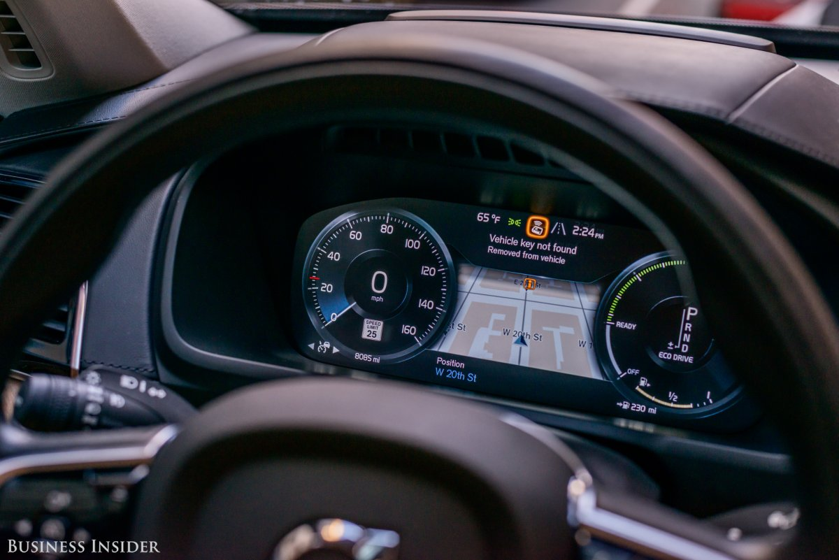Up front, the driver is treated to a sleek digital-instrument cluster. The layout of the LCD screen is customizable, and the readout is beautifully rendered.