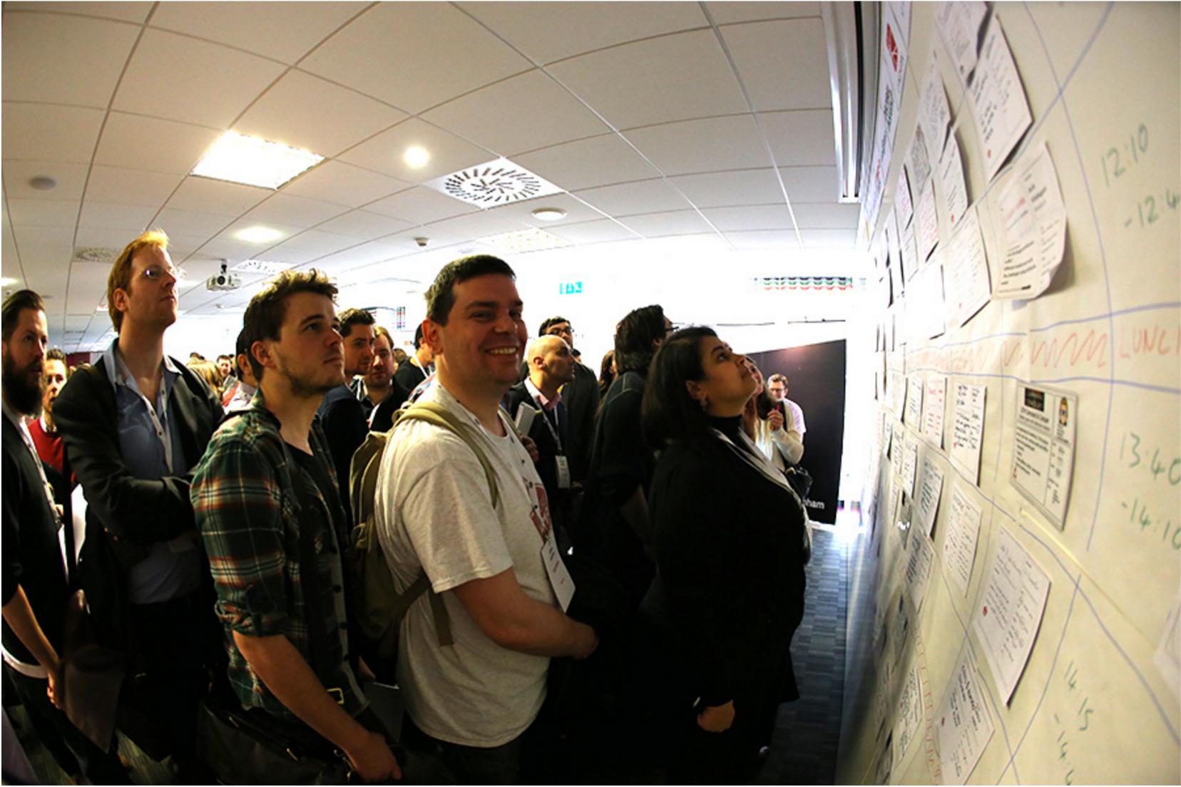 Sessions board MeasureCamp London