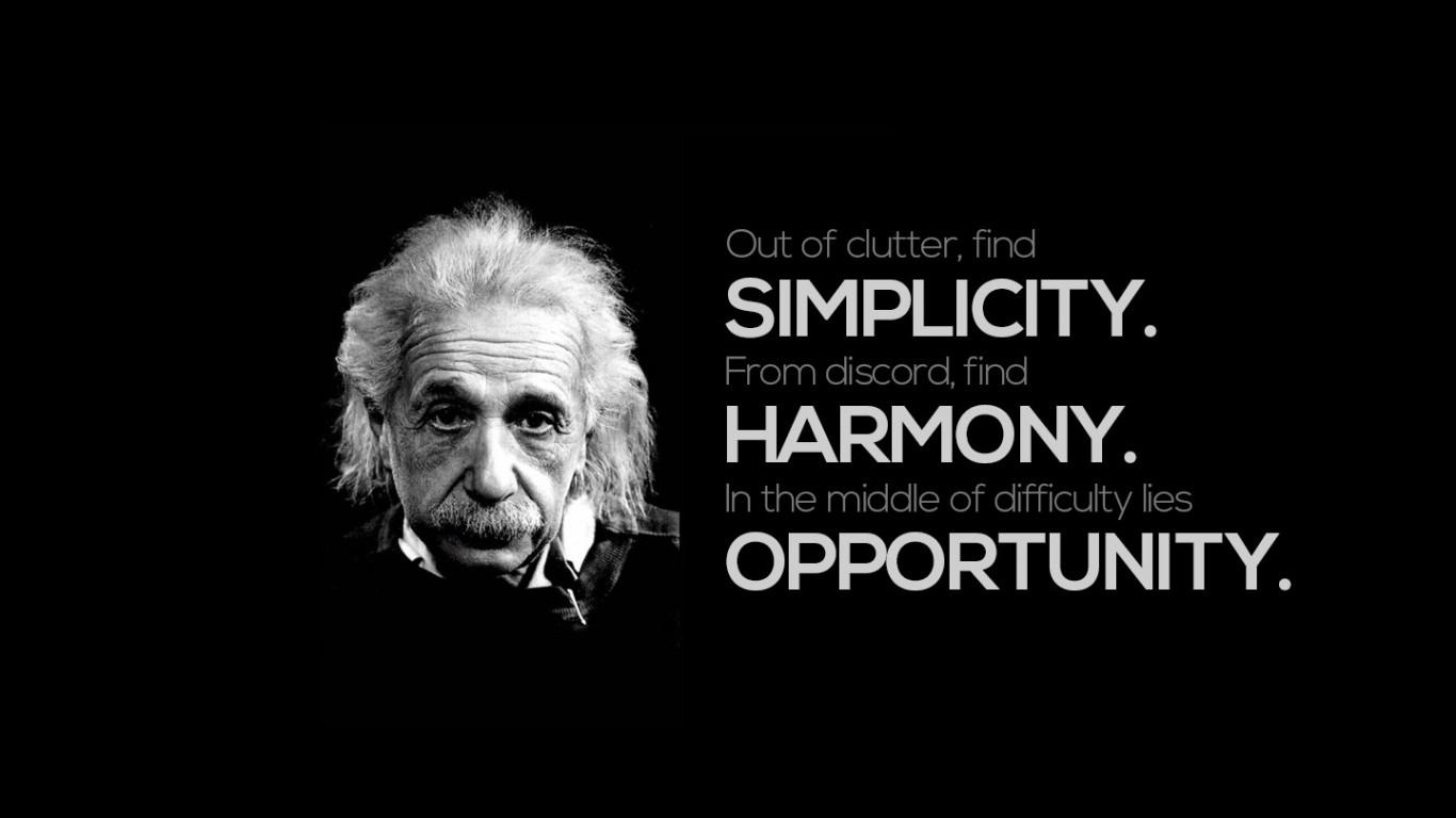 black_quotes_harmony_simple_opportunity_einstein_albert_1366x768_62590