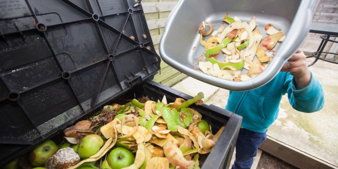 Trip to compost bin