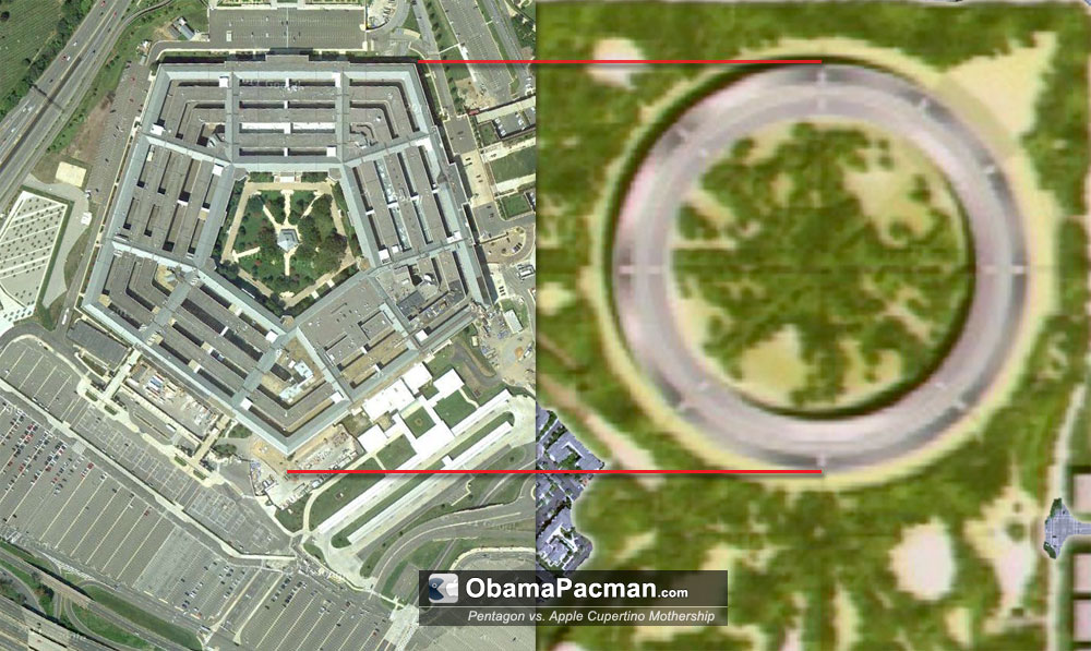 Apple Campus a Pentagon