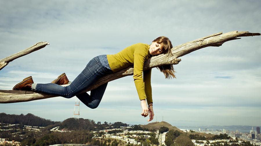 girl tree climbing