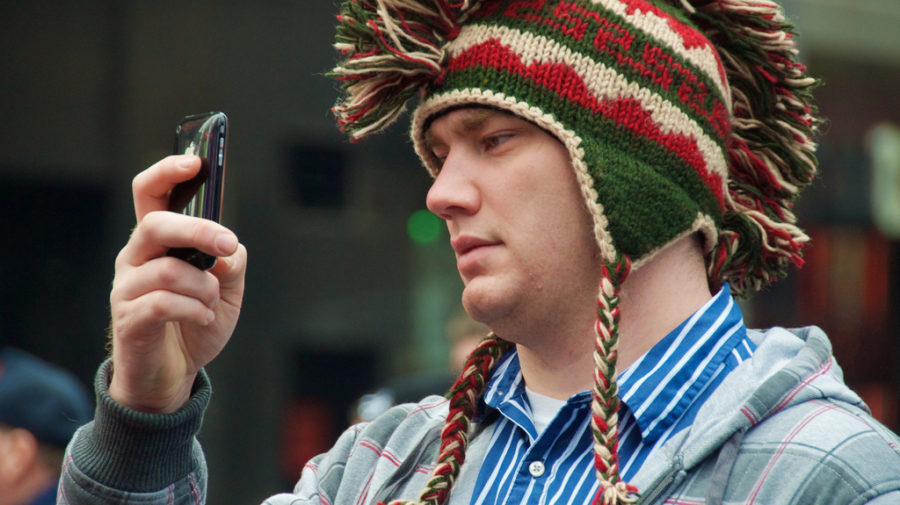 """My girlfriend just IM'ed me from home: """"I can see you on the TV monitor - would you please take off that stupid hat?"""""""