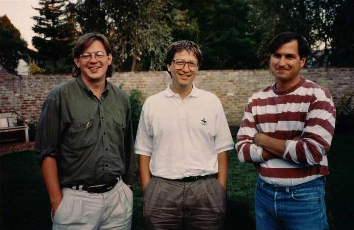 Brent Schlender( autor knihy Becoming Steve Jobs ), Bill Gates a Steve Jobs (1991)