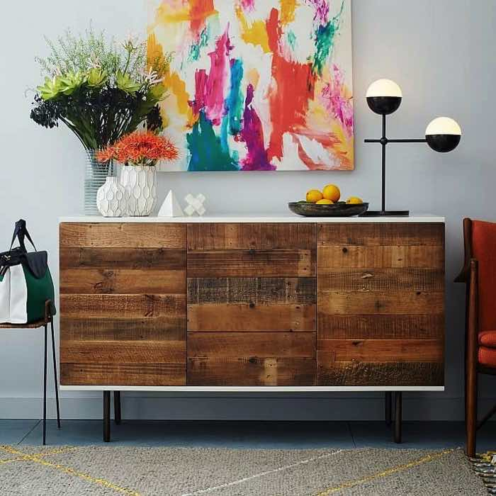 ikea-furniture-diy-ideas-recycled-wood-chest-of-drawers-living-room-hallway
