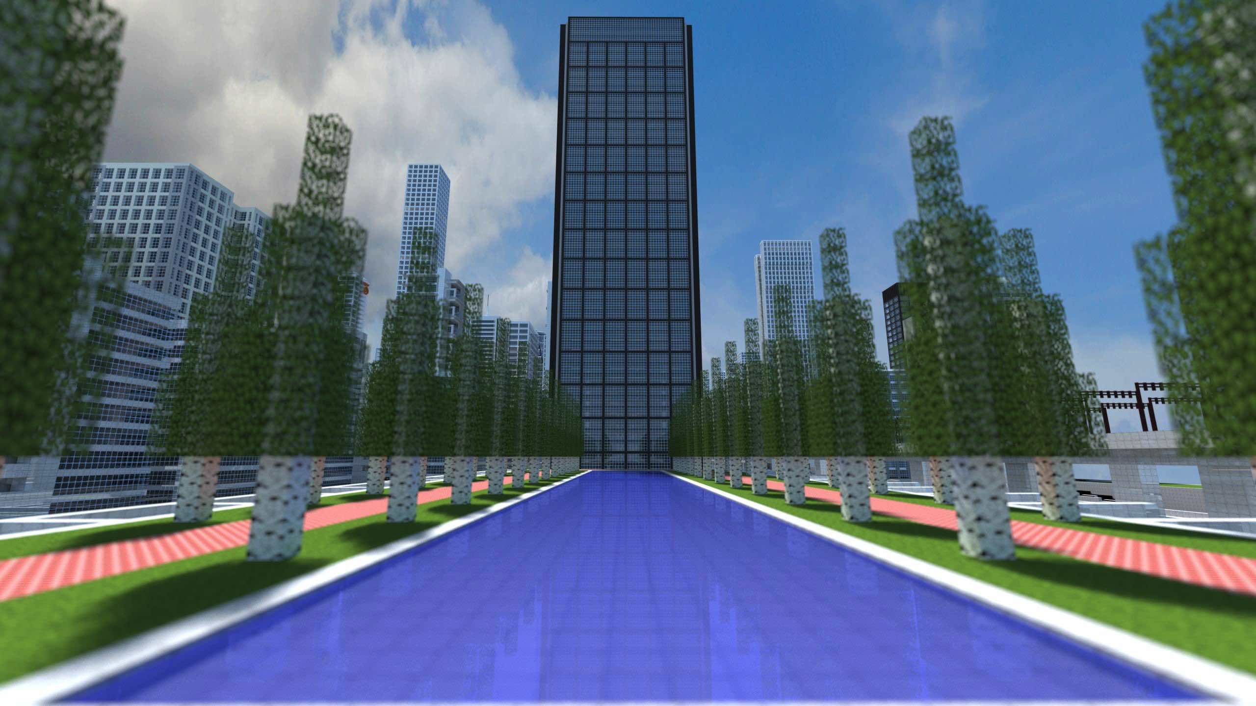 minecraft-city-plaza
