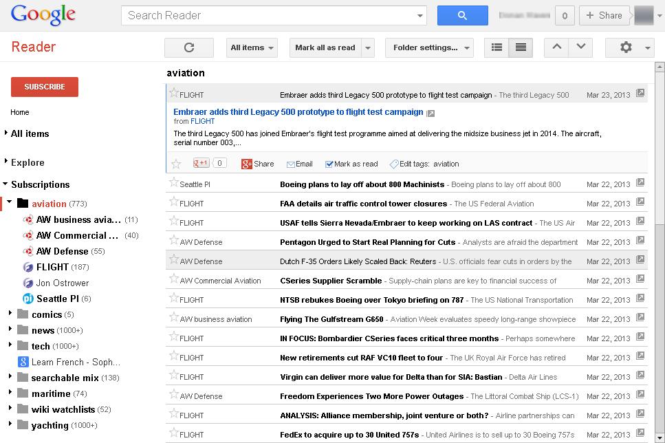 Google_Reader_interface