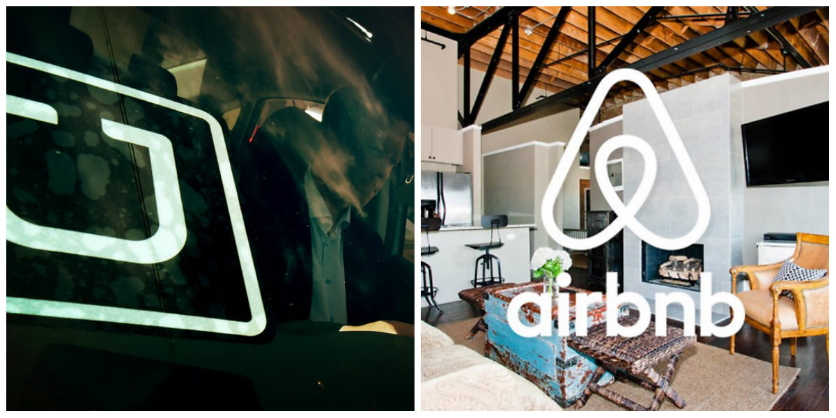 collage uber airbnb