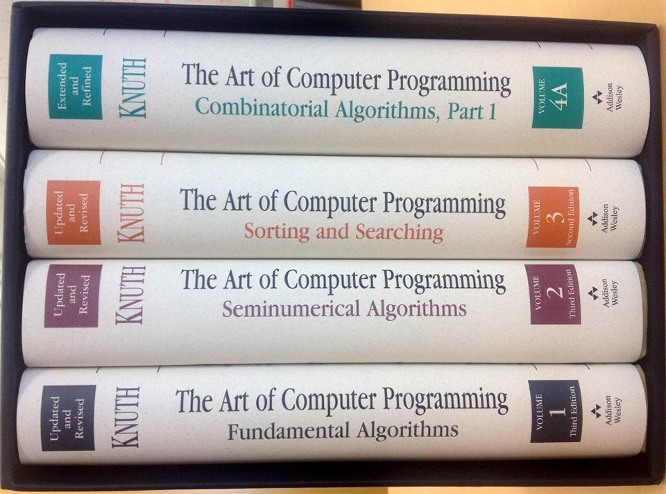 the art of computer programming All three volumes of the art of computer programming (taocp), are classic each is a book that every cs student should try to study diligently reimplementing example after example not many will succeed to finish even a half of one volume, but if you do please buy all three of them and think about post-graduate studies :-.