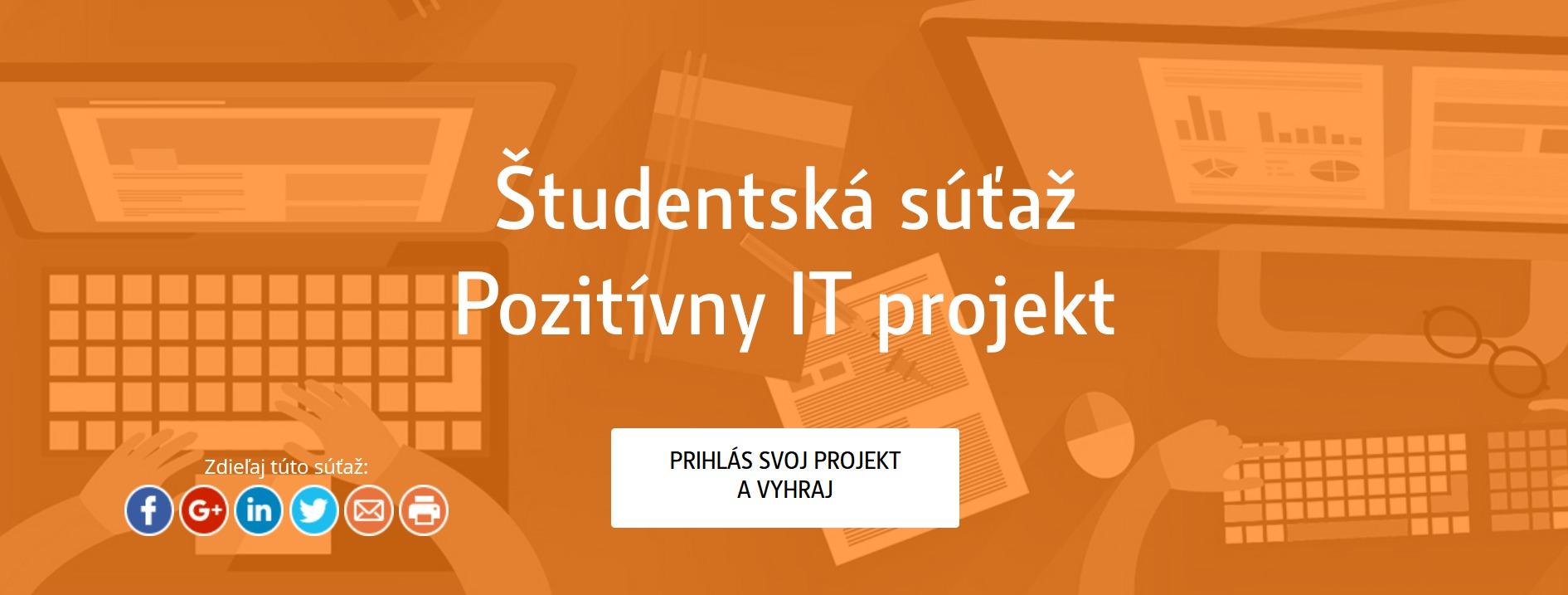 cd70e8b8a Študentská súťaž – Pozitívny IT projekt