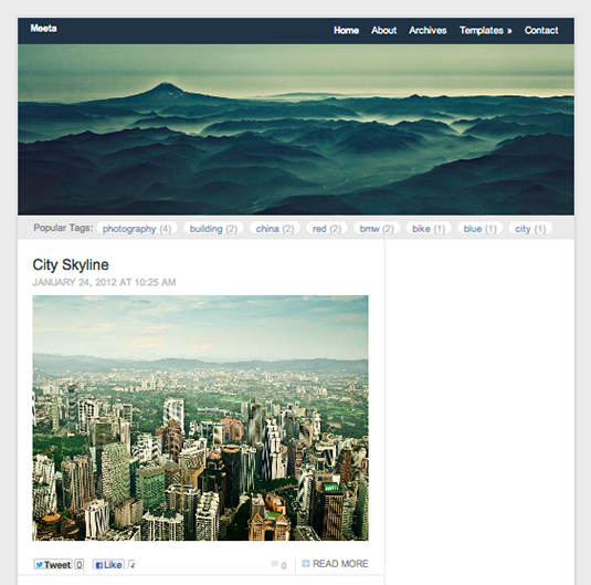 Free WordPress themes: Meeta
