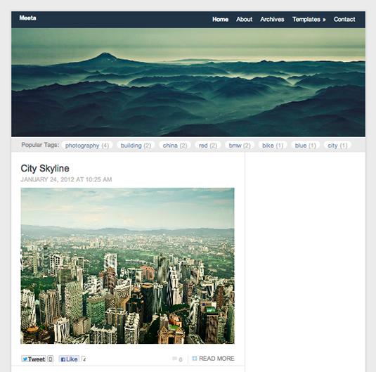 Free WordPress themes: Meeta