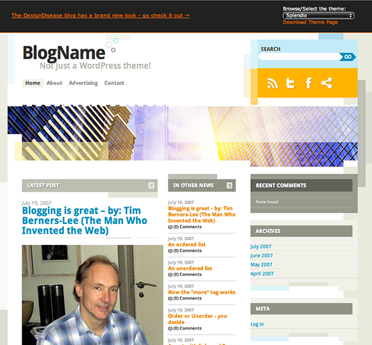 Free WordPress themes - Splendio