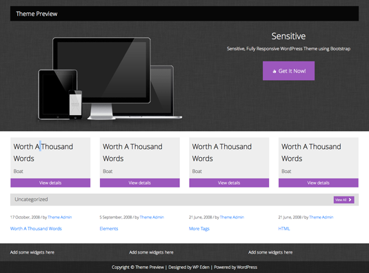 Free WordPress theme: Sensitive