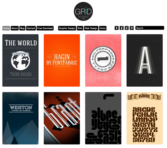 Free WordPress themes: Grid