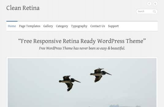 free WordPress theme: Clean Retina