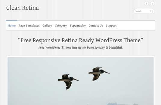 free WordPress theme: Clean Retina