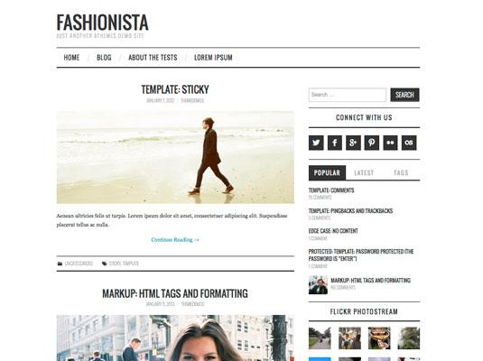 Bold headlines for a magazine blog
