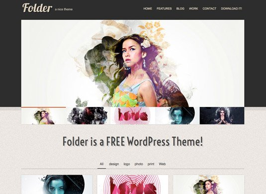 Free WordPress themes - Folder