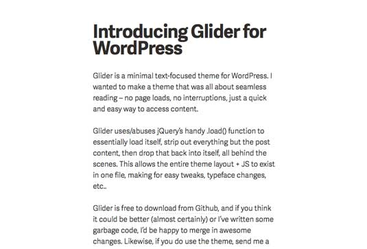 Free WordPress themes - Glider