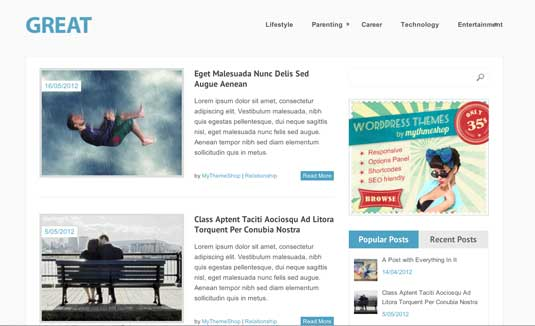 Free WordPress theme: Great