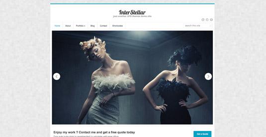 Free WordPress themes - InterStellar