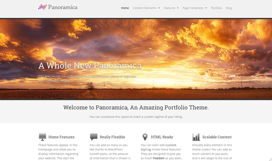 Free WordPress themes: Panoramica