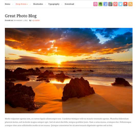 Free WordPress theme: Photo