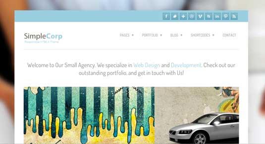 Free WordPress theme: Simple Corp