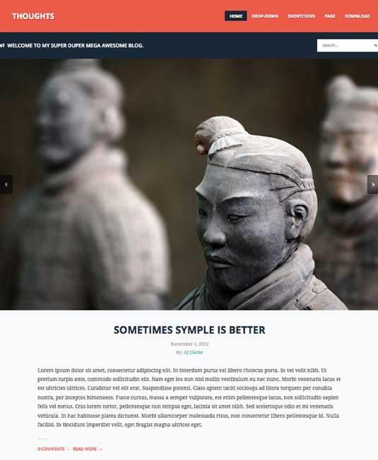 Free WordPress themes - Thoughts