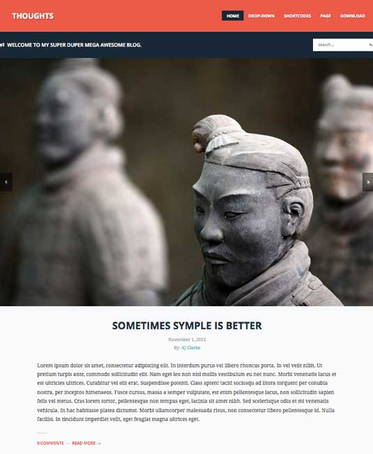 Free WordPress themes - Thoughts