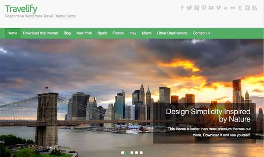 Free WordPress themes: Travelify