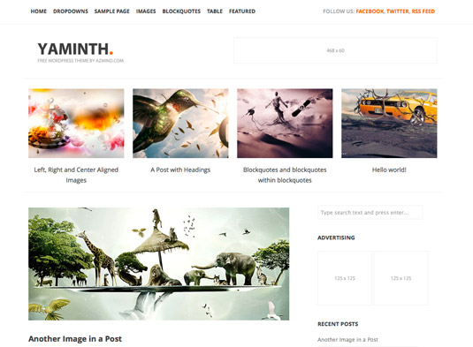 Free WordPress themes - YAMINTH