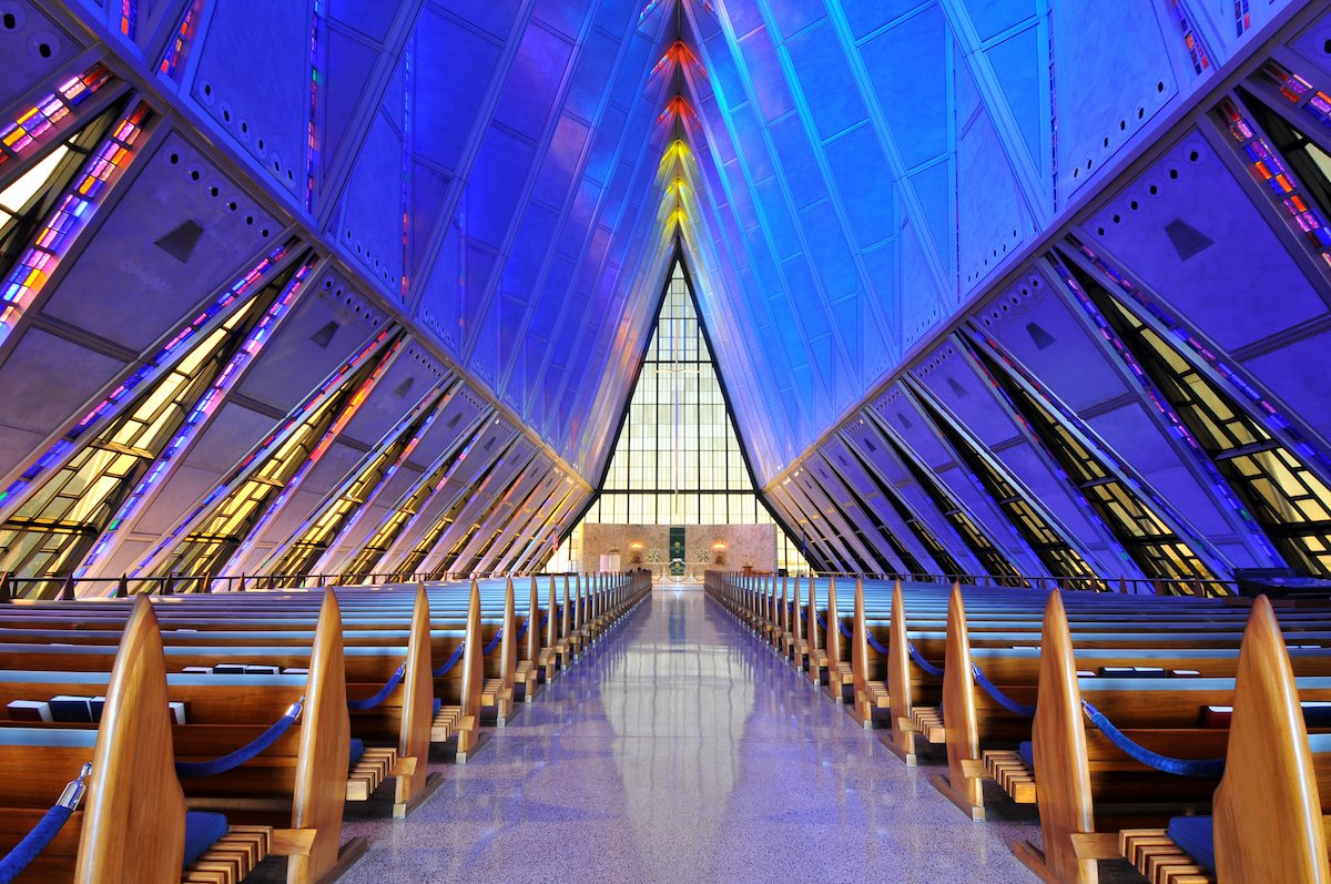 17-the-triangular-shape-of-the-united-states-air-force-academy-cadet-chapel-is-cleverly-echoed-in-the-stained-glass-windows-that-line-its-interior