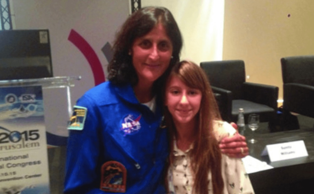 Roni-Oron-poses-for-a-picture-along-with-astronaut-Sunita-Williams.-Photo-Family-courtesy