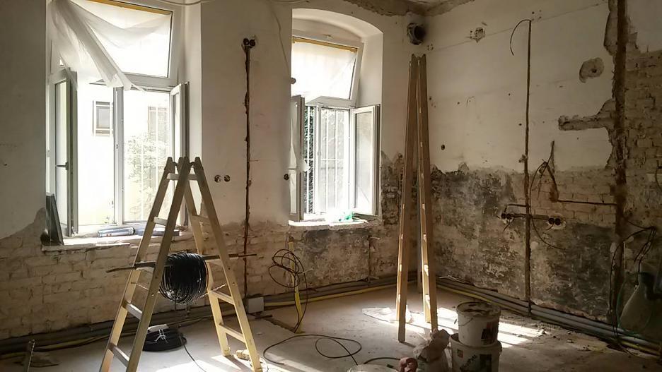Fotografia počas výstavby